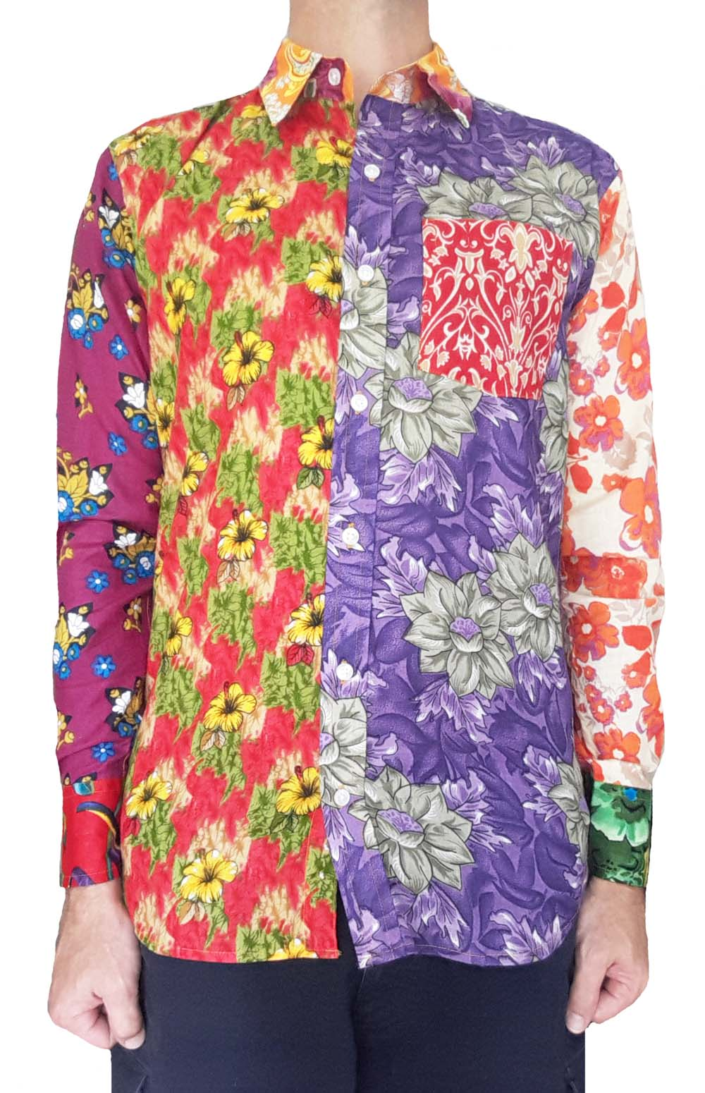 Unique Floral Shirts Long Sleeve