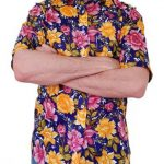 Unique Floral Short Sleeve Shirt